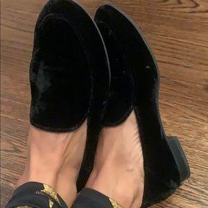 Franco Sarto  A- Kristina Black Velvet  loafers